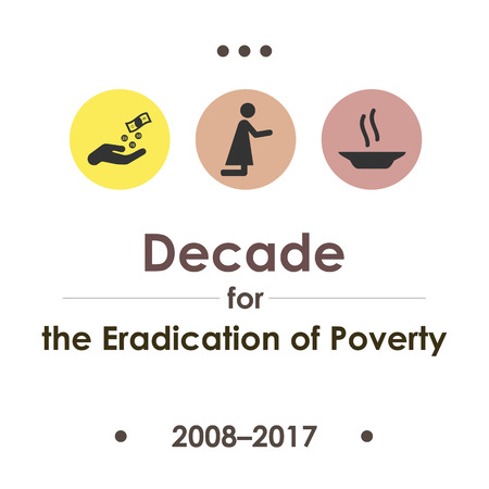 vector illustration for Second United Nations Decade for the Eradication of Poverty Illustration