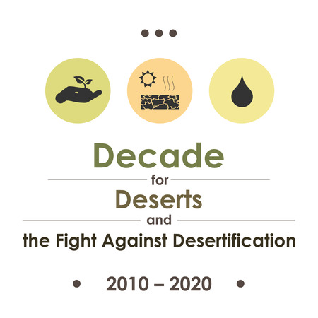 vector illustration for  Decade for Deserts and the Fight Against Desertification Illustration
