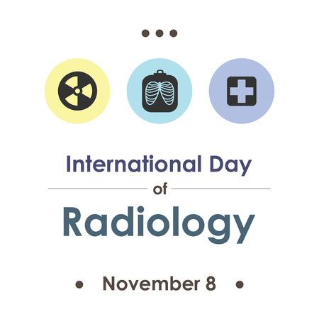 vector illustration for World Radiology day in november Ilustrace