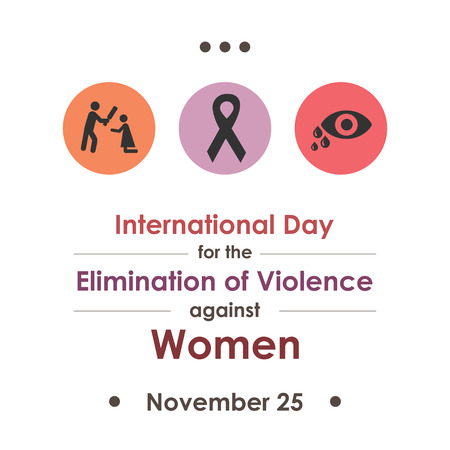 vector illustration for International Day for the Elimination of Violence against Woman in november