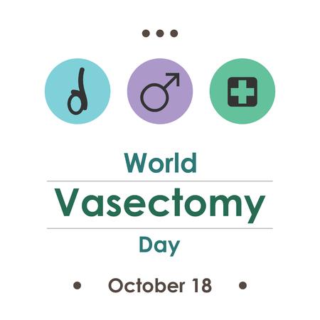 World vasectomy day in October. Illustration