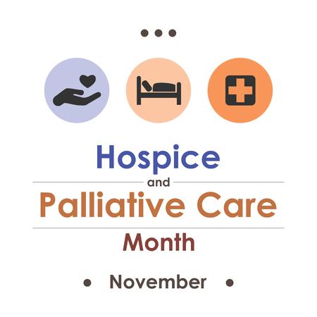 palliative: Hospice Palliative Care Month in November. Illustration