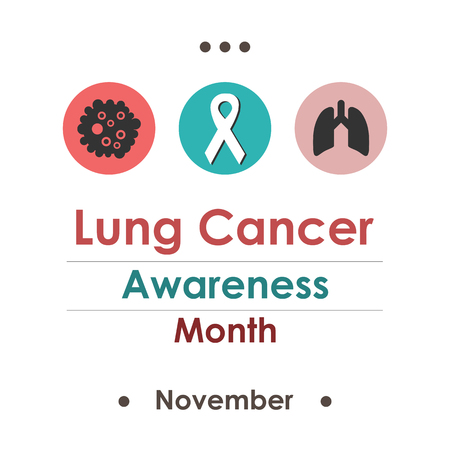 vector illustration for  Lung Cancer Awareness Month in november Ilustracja