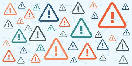 vector illustratie van belangrijke informatie horizontale banner met uitroeptekens abstracte achtergrond voor waarschuwingen en aankondigingen