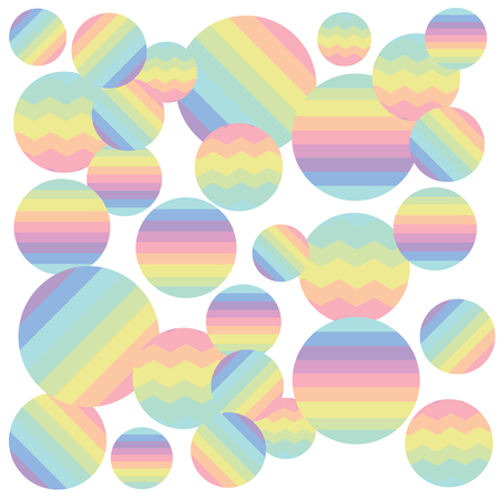 vector illustration for colorful holographic bubbles background for soft rainbow abstract wallpaper