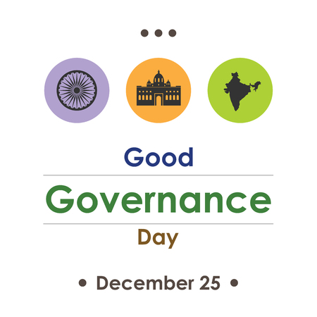 Good Governance Day celebrated in India in December.