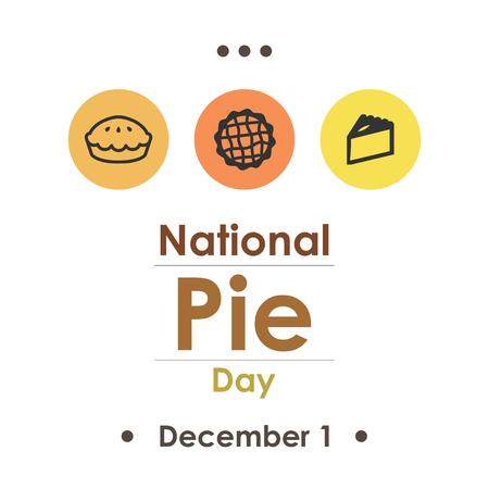 Pie Day in December. Illustration