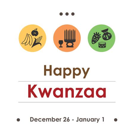 kwanzaa: Kwanzaa holiday in December. Illustration