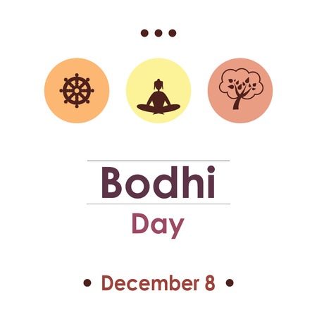Bodhi day dotted greeting card design Illustration