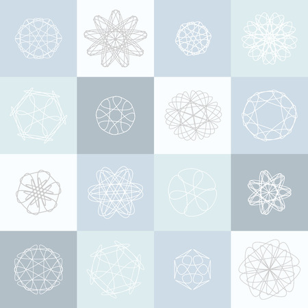 christmas backdrop: christmas background. Vector seamless pattern with  pale blue snowflakes