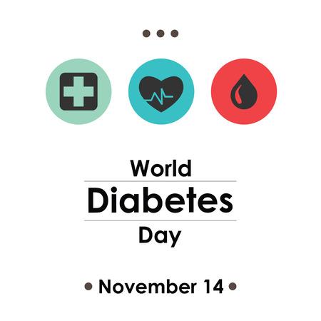 epidemy: World Diabetes Day, November 14. Vector illustration for card, poster or banner