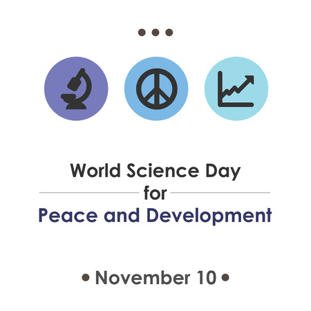 World Science Day for Peace and Development, November 10. Vector design for card, poster or banner