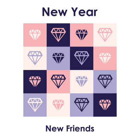 universal new year greeting card with new year for new friends funny ironical quote connected with
