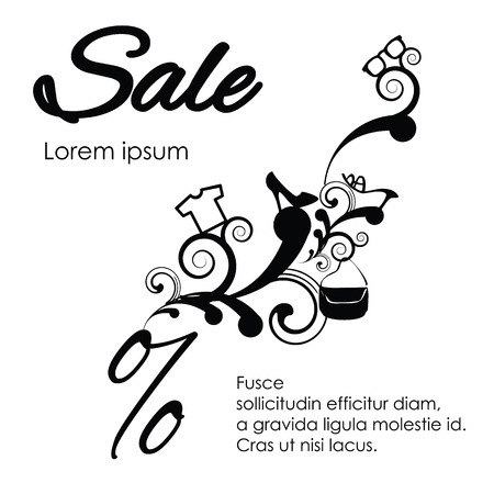 A Vector Illustration For Sale With Cloth And Fashion Symbols