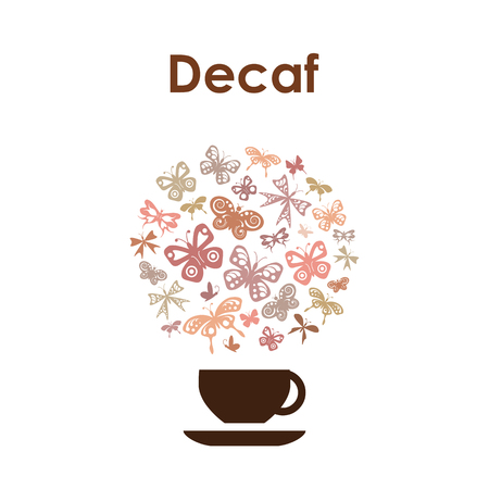 Coffee cup design vector icon for coffee shop on white background. Ilustração