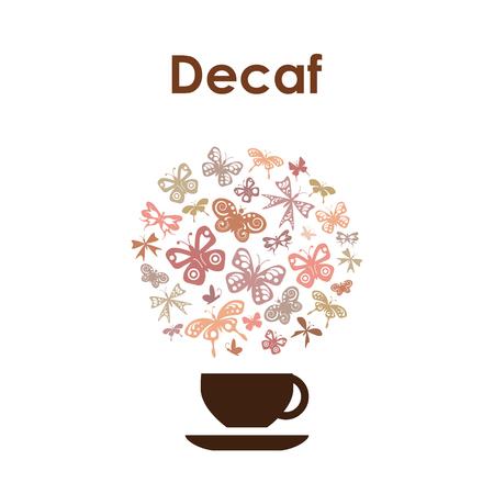 Icono del vector del diseño de la taza de café para la cafetería en el fondo blanco. Foto de archivo - 87857726