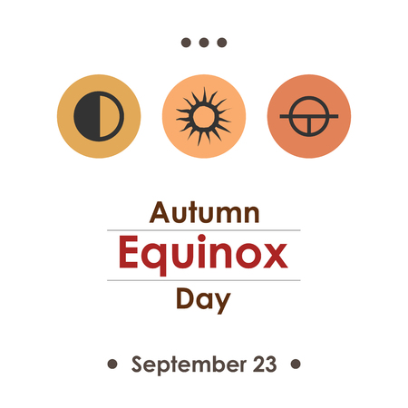 A vector illustration for autumn equinox day in September poster design on white background.