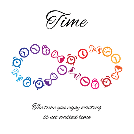 A vector illustration of time concept on white background. Illustration