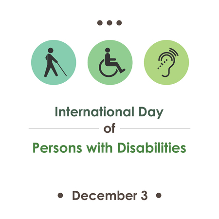 A vector illustration for International Day of Persons with Disabilities with symbolical icons.