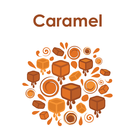 circle design for caramel flavor Illustration