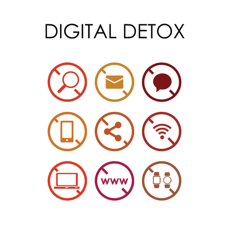 vector illustration of anti social media icons for alternative platforms concepts for mobile phones