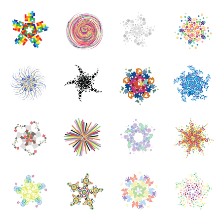 vector illustration of abstract concentric shapes geometric grid or pattern design