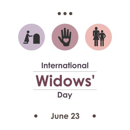 vector illustration / international widows day in june Vettoriali