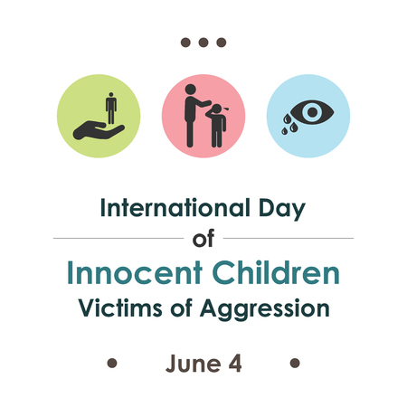 vector illustration / international day of innocent children victims of agression in june