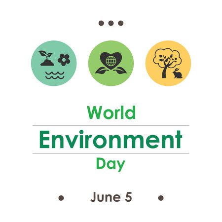 vector illustration / world environment day in june
