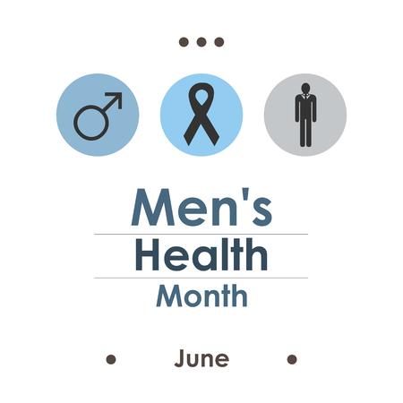 vector illustration / june men health awareness month