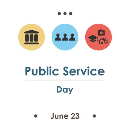 vectorillustratie / openbare dienstdag in juni