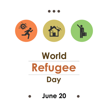 vector illustration / world refugee day Vecteurs