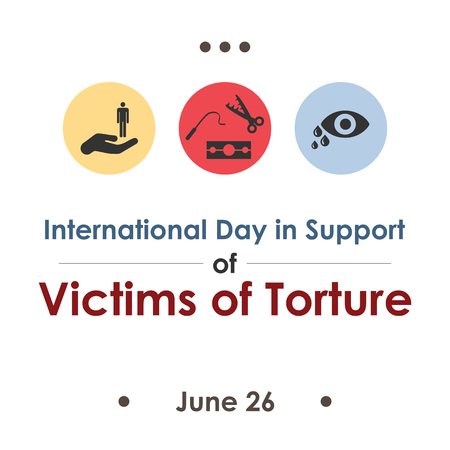 vector illustration / international day in support of victims of torture in june