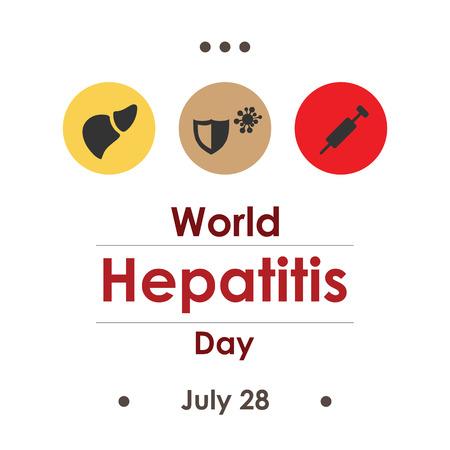 vector illustration  world hepatitis day in july