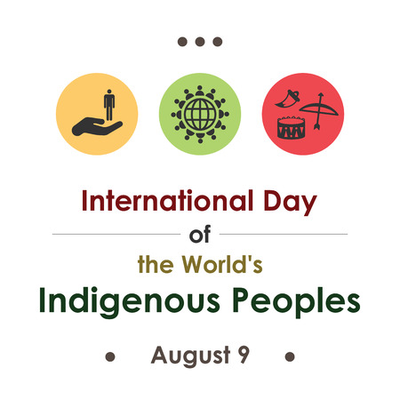 vector illustration / international day of the world indigenous peoples in august