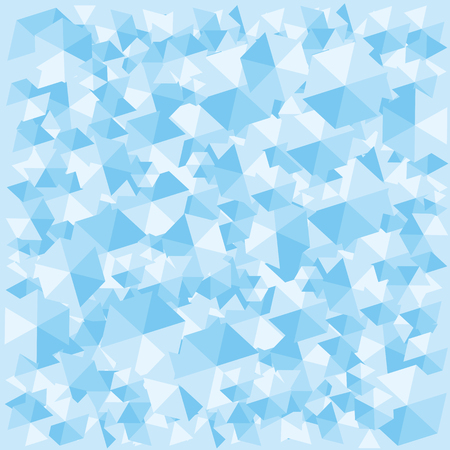 vector illustration / blue ice cubes wallpaper / background for frozen or cooled issues Vectores