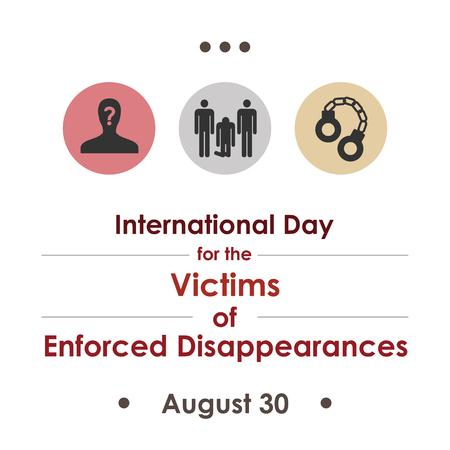 Vektorillustration / Internationaler Tag der Opfer des Verschwindenlassens im August