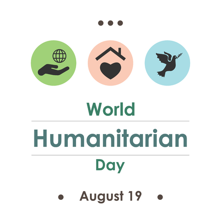 vector illustration  World Humanitarian Day in August