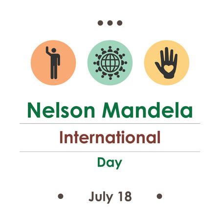 vector illustration / Nelson Mandela International day in August