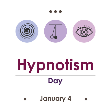 vector illustration for hypnotism day in January