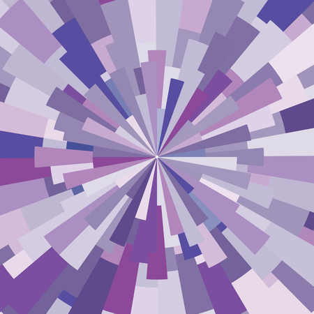 vector illustration of violet stylized beams shine for abstract concentric backgrounds Ilustração