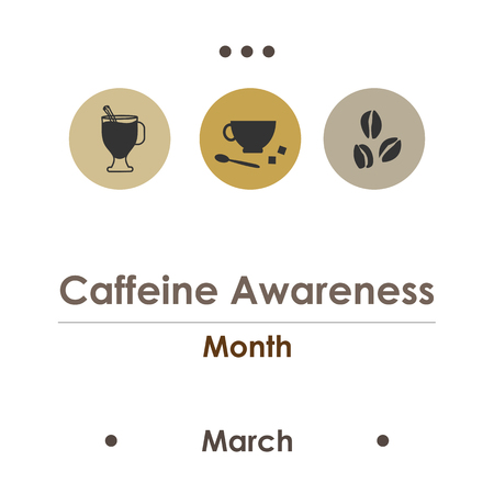 vector illustration for caffeine awareness month in March Иллюстрация