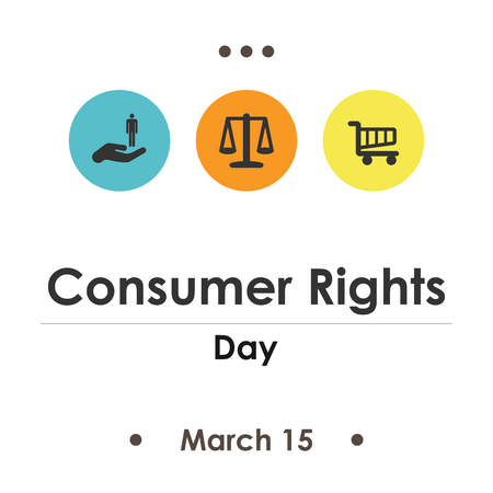 illustration vectorielle pour la journée des droits des consommateurs en mars
