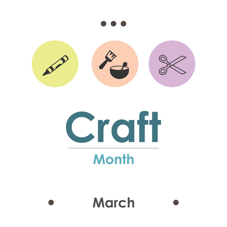 vector illustration for craft month in March