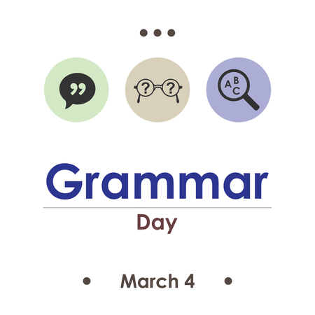 vector illustration for grammar day in March