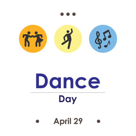 vector illustration for day international dance day in April Иллюстрация