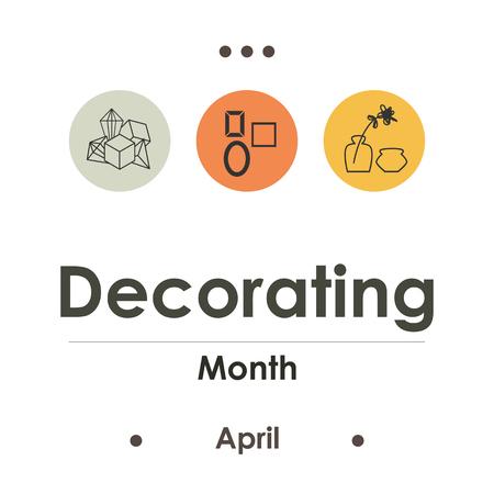 vector illustration for decorating month in April