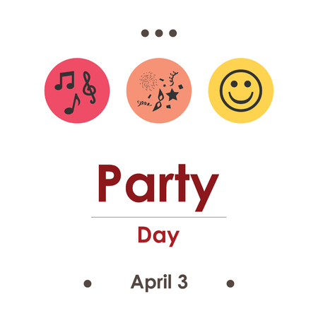 vector illustration for party day in April