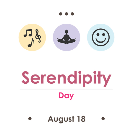 vector illustration for serendipity day in August