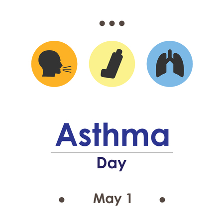 vector illustration for asthma day in May